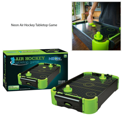 """Funtime Neon 20/"""" Table Football Or Table Air Hockey Indoor Wood Finish Game"""