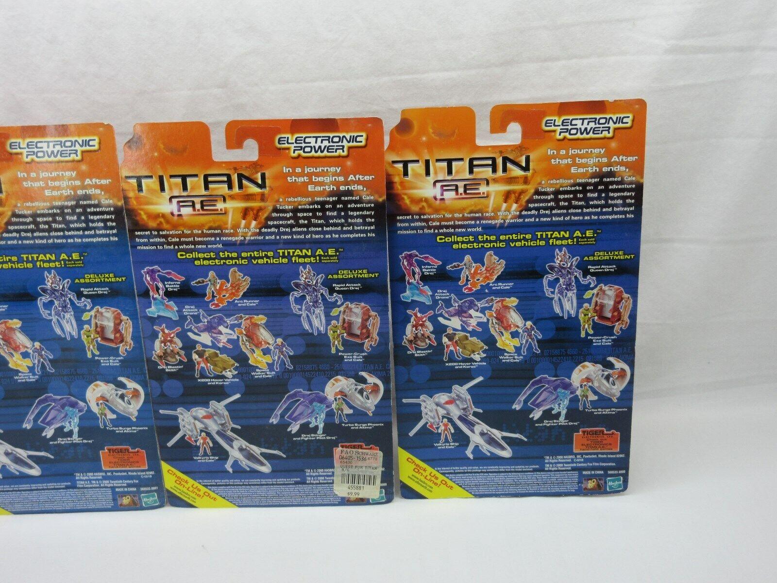 TITAN A.E,Lot of 4 action figures,sealed,MOC,Inferno,Space figures,sealed,MOC,Inferno,Space figures,sealed,MOC,Inferno,Space Walker,Stith,Cale 242441