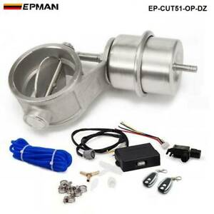 2'' 51mm Open Vacuum Exhaust Cutout Valve with Wireless Remote Controller Set