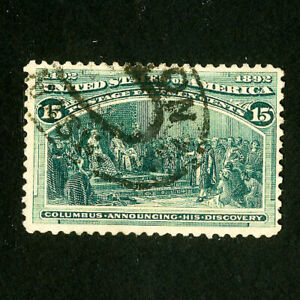 US-Stamps-237-VF-Used