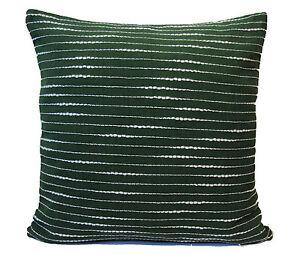 Verde-FRANJAS-blancas-Fundas-Cojin-40-6cm-40cm-Algodon-Suave-Lavable-Sol-Danada