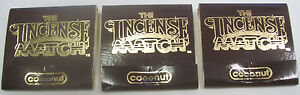Coconut: Scented Incense Match Books - Lot of 3 Books (90 Matches)