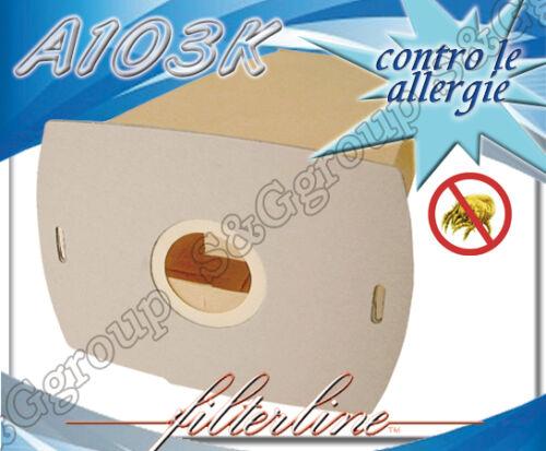 A103MF 5 sacchetti filtro tessuto microfibra aspirapolvere AEG Vampyrette 1002S