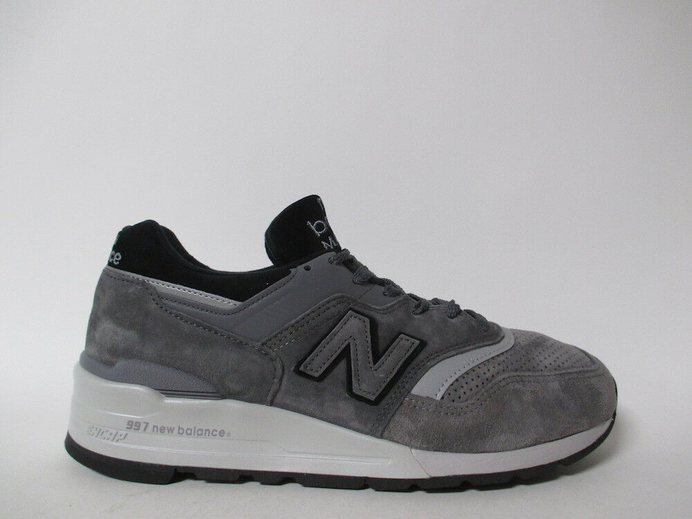 New Balance 997 Made in USA Grey Silver Black Sz 9 M997BRK