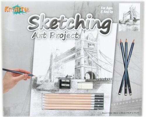 Kreative Sketching Pencil Art Project Drawing Set ~ Tower Bridge