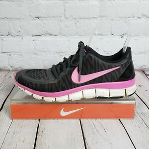 6764c6a4278f0 Details about NIKE FREE 5.0 V4 WOMEN S SIZE US 8.5 EUR 40 RUNNING BLACK PINK  511281 009