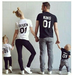 2019-Sweet-Couple-T-Shirt-King-And-Queen-Love-Romantic-Matching-Tee-Tops-Clothes