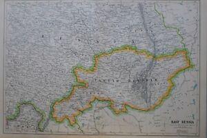 1919-MAP-EAST-RUSSIA-TARTAR-BASHKIR-TAMBOV-SARATOV-ORENBURG-PERM
