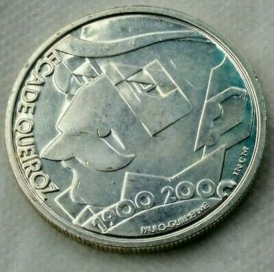 writer´s centennial death Eça de Queiroz 2000-500 Esc- Silver lp PORTUGAL