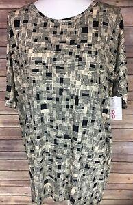 Black Small Stretchy Shirt T Top Squares Nwt Irma Women's Cream Size Lularoe atxwEI