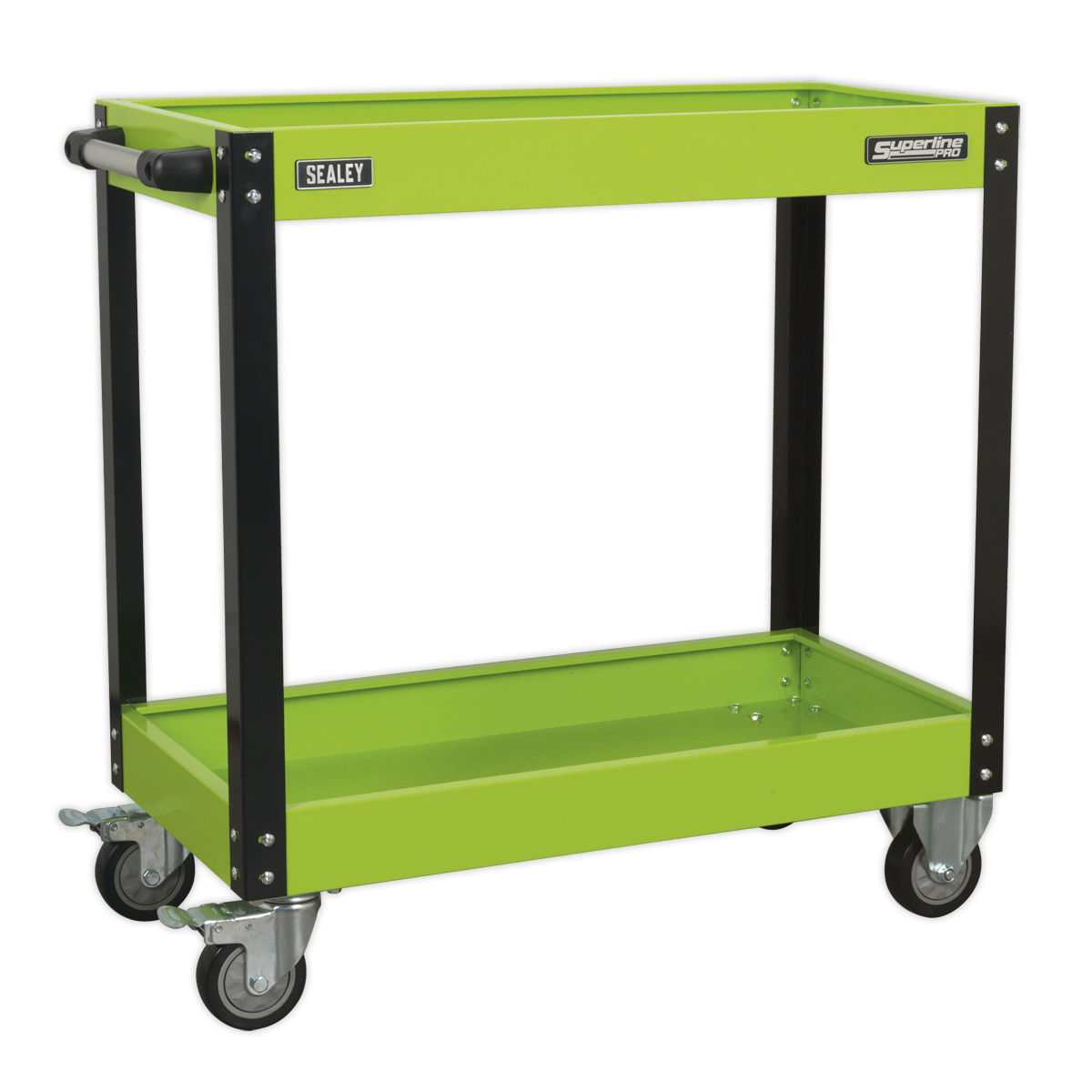 Workshop Trolley 2-Level Heavy-Duty - Hi-Vis Grün   SEALEY CX109HV by Sealey