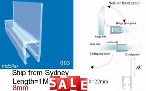 BATHROOM PVC PLASTIC SHOWER SCREEN DOOR WATER SEAL STRIP 6-8mm 1M WIDER FIN LID