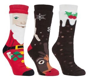89a73be35fafd ... Heat-Holders-Femme-Homme-Chaudes-Thermiques-Antiderapantes-Chaussettes-