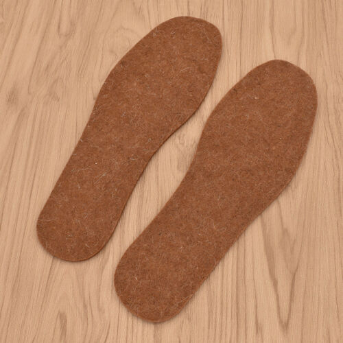 1 Pair Natural Wool Felt Warm Shoe Pads 4mm Thicknedd Dry Feet Durable Insoles