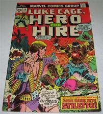 HERO FOR HIRE #16 (Marvel 1973) LUKE CAGE! Origin STILETTO! Death of RACKHAM!