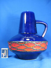 Rare beautiful glazed 70´s design Fohr pottery Keramik jug vase Krugvase 407/25