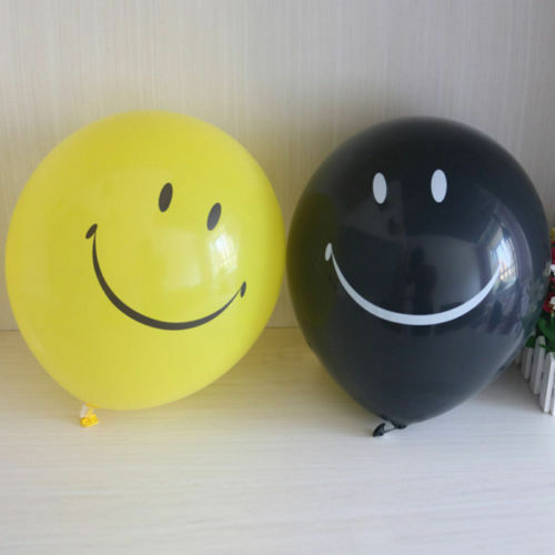 "Smiley Face Balloons Parti Emoji All Occasions Decoration Birthday 10 X12/"" SMILE"