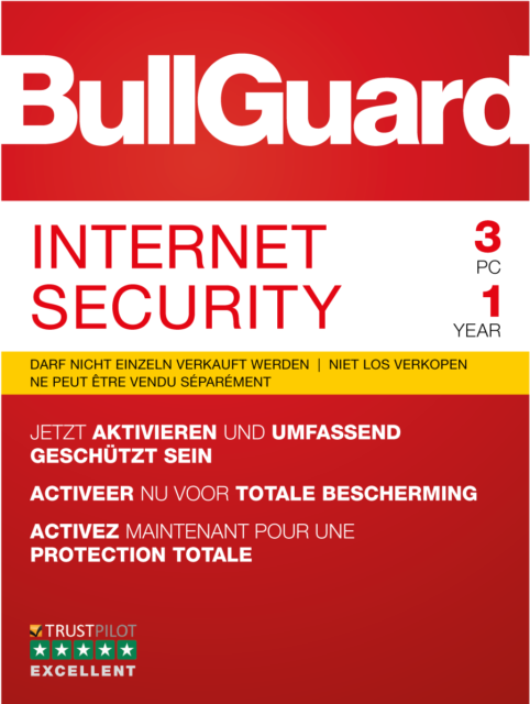 Bullguard Internet Security 2019, 1 / 3 / 5  PC Windows / KEY 365 TAGE