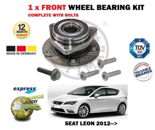 FOR SEAT LEON + CUPRA SC ST TSI TDI 2012> 1 X FRONT WHEEL BEARING KIT COMPLETE
