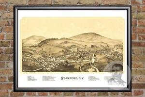 Vintage-Stamford-NY-Map-1890-Historic-New-York-Art-Old-Victorian-Industrial