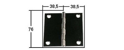 Edelstahl Scharnier 77mmx76mm  eckige Form ARBO-INOX