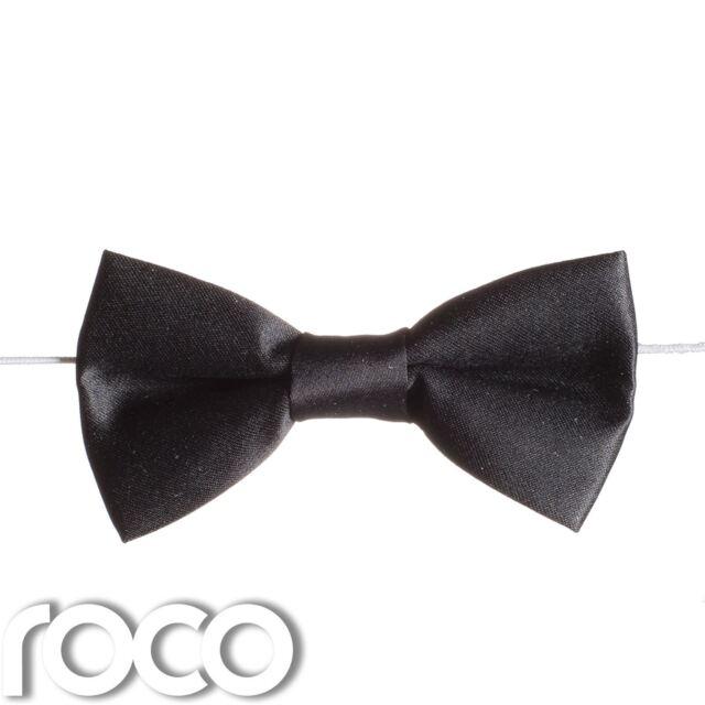 Mens or Boys White Pre Tied Bow Tie Adjustable Wedding Dinner Prom Dickie Tuxedo