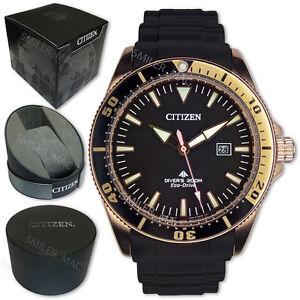 Citizen-Promaster-Eco-Drive-BN0104-09E-Black-Gold-Divers-200m-Analog-Sport-Sea