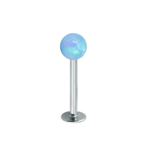 Details about  /Labret Lip Piercing Ornament Bar Surgical Steel Cartilage Internally thread Opal