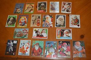 SANTA CLAUS RARE LARGE COLLECTION OF BASEBALL & FOOTBALL CARDS TWO SPORT STAR