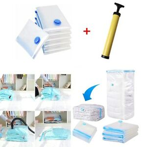 Image is loading S-XL-Size-Vacuum-Storage-Bags-Space-Saving-  sc 1 st  eBay & S-XL Size Vacuum Storage Bags Space Saving VAC Bag Reusable Vacum ...