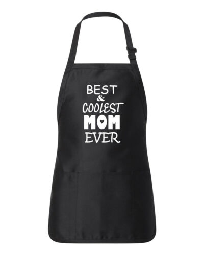 Best /& Coolest Mom Ever Kitchen Apron Pocket Cooking Mothers Day Christmas Gift