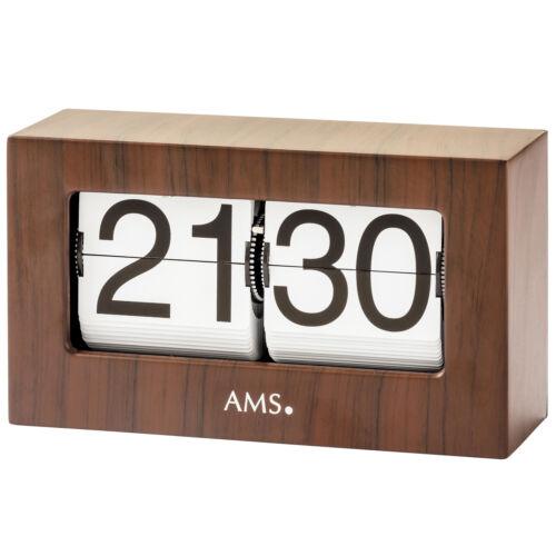 AMS 1177 Coultre quartz en Finition Bois Noyer couleurs pliante chiffres Bürouhr