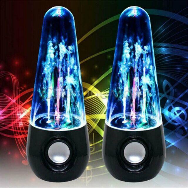 2 X Wasserfontänen Lautsprecher Wasserspiel USB Dancing Water Speaker 7n