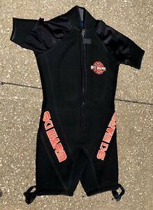 Vintage-Skiwarm-Black-Mens-Scuba-Ski-Surf-Short-Leg-Wet-Diving-Suit-Size-S