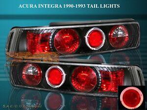 Image Is Loading 90 93 Acura Integra Tail Lights Black Halo