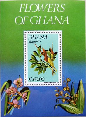 Afrika Briefmarken Neue Mode Ghana 1984 Block 110 S/s 926 Local Flora Blumen Flowers Plants Pflanzen Mnh
