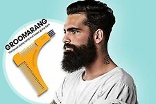 Beard Shaping Comb Tool for Neck Cheek Goatee Line Shape Symmetry Groomarang