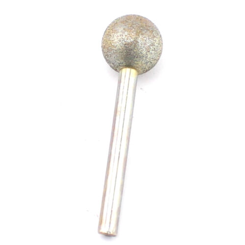 """Diamond Coated 20 mm 3//4/"""" Spherical Head Mounted Points Round Ball Grinding Bit"""