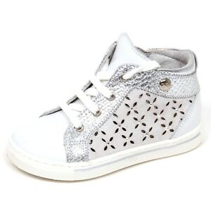 Image is loading E2058-sneaker-bimba-bianco-argento-NERO-GIARDINI-JUNIOR- d891645d20d