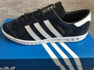 Image is loading ADIDAS-Originals-Hamburg-Mens-Trainers-Navy-Blue-Size- a767d360c