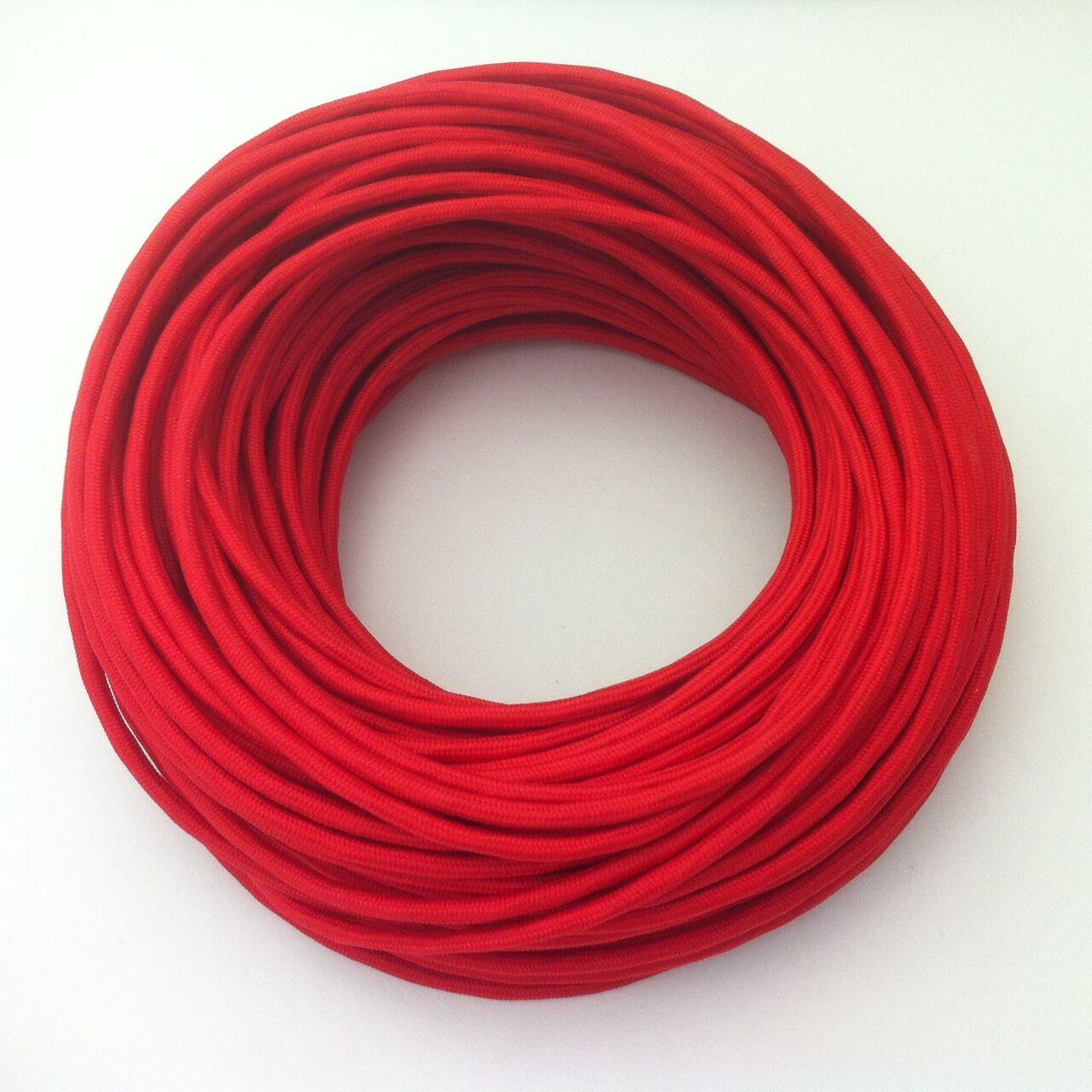 100m Design Textilkabel Stoffkabel Zug-Pendelleitung Rot 2x0,75 Top EU Qualität