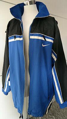 Details zu Nike air Jacke Outdoor Blau Schwarz Herren 2 Seitig zum tragen Gr.L