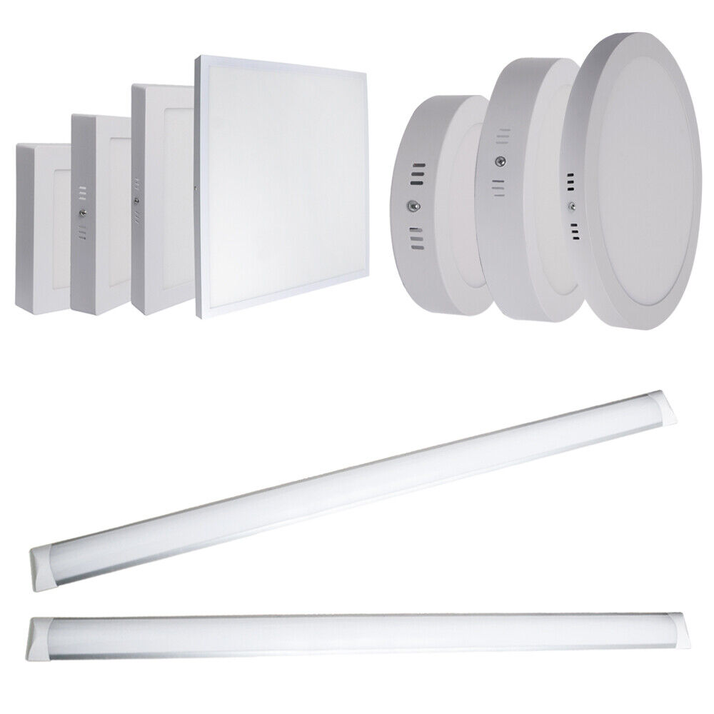 1 5 10x 12W 18W 24W 36W 48W LED Surface Mount Ceiling Panel Light Tube Lamp UK