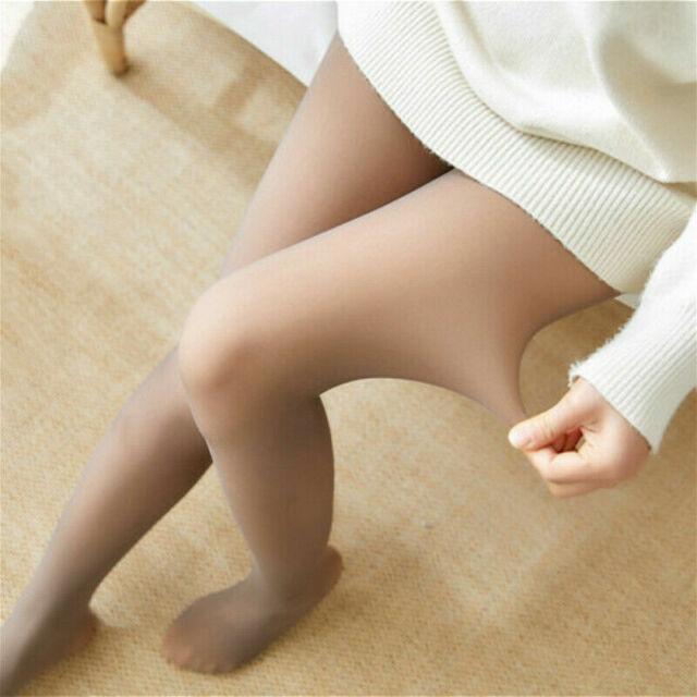 /'Flawless/' Beine Falsche Lichtdurchlässig Warm Vlies Strumpfband Schier Strümpfe