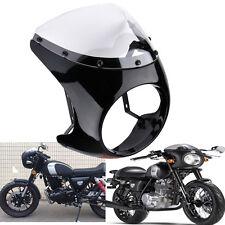 "Universal Motorcycle 7"" Headlight Cafe Racer Handlebar Fairing &Clear Windshield"