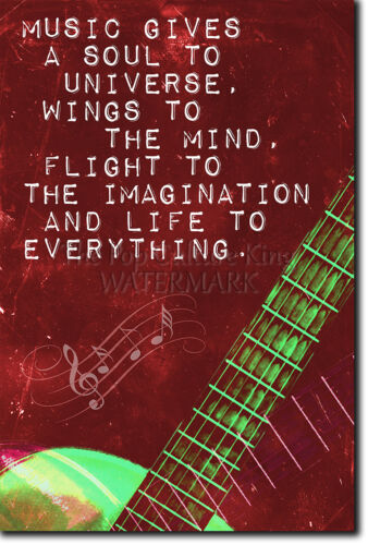 """MUSIC QUOTE POSTER /""""A SOUL TO THE UNIVERSE/"""" MOTIVATION PRINT PHOTO MOTIVATION"""