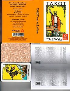 Premium-A-E-WAITE-Tarot-Karten-Rider-Waite-Tarot-78-Tarotkarten-Pocketausgabe