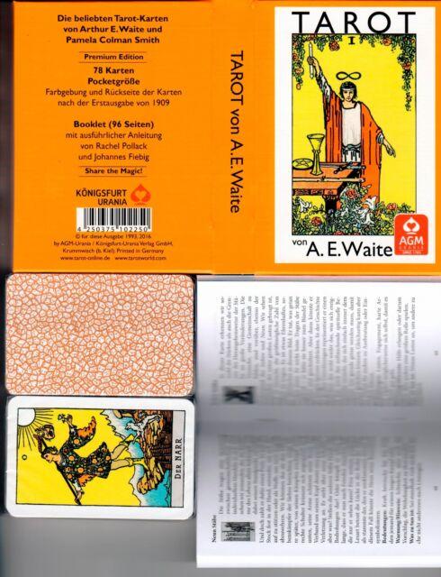 Premium A.E. WAITE Tarot Karten Rider Waite Tarot 78 Tarotkarten Pocketausgabe