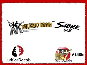 Two Musicman Sabre ll Bass Waterslide Headstock Decals