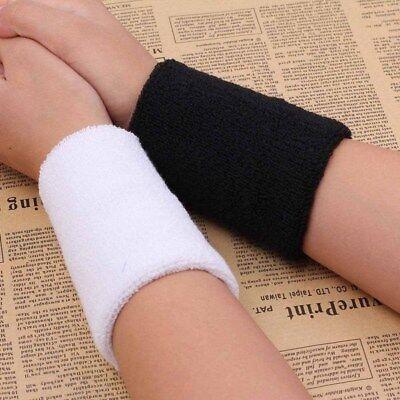 1 Pair Unisex Sweatbands Sports Wrist Tennis Squash Badminton GYM Wristband Gift